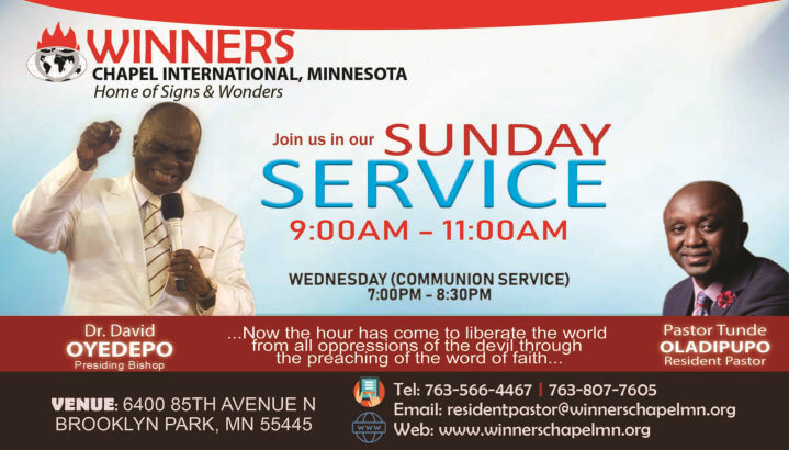 sunday service and communion service flyer