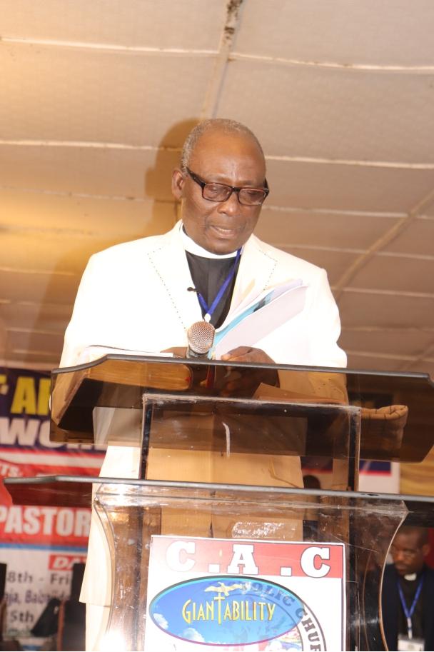 Pastor reading a gospel