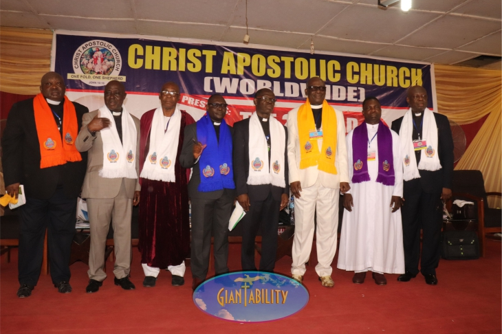 Pastors standing on the stage